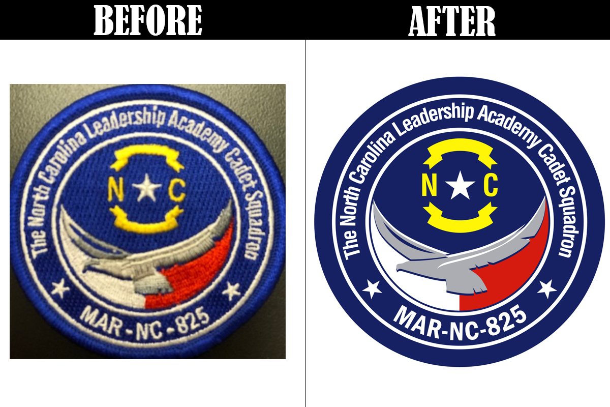 Photo of a patch converted to vector