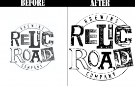 Brewing company has their logo converted to vector